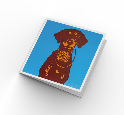 4 Legged Word - Greeting Card - Its A Dogs Life | Clothing & Gifts