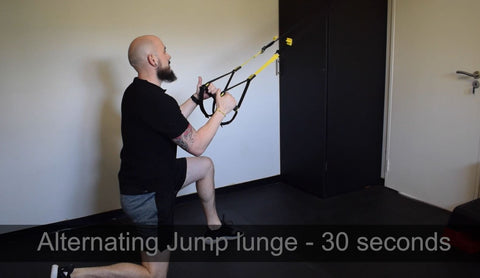 Jump lunge TRX home