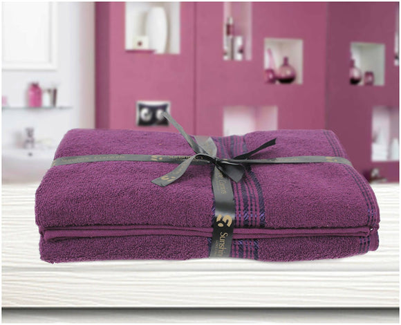 100% Soft Natural Cotton Large Bath Towel Pack of 2 Size 70 x 120 cm
