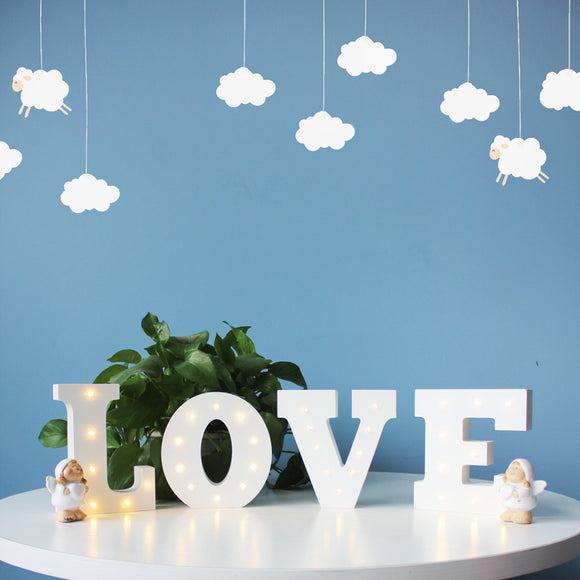 Alphabet Letters Marquee LED Night Light (Wooden)