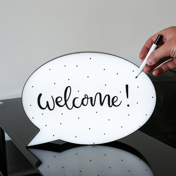 Speech Bubble LED Light Box