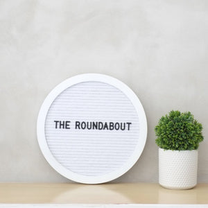 THE ROUNDABOUT – White