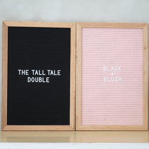 THE TALL TALE Double – Black + Blush
