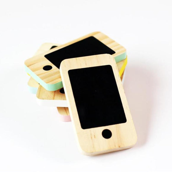 Wooden Chalkboard Phone Toy