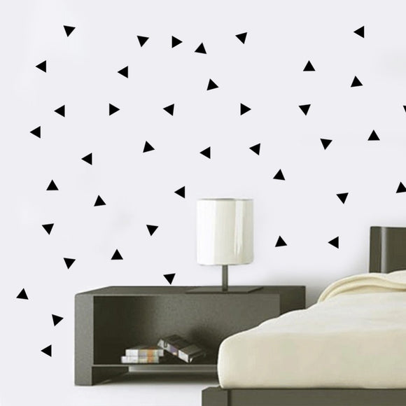 Black Triangle Wall Sticker Vinyl Decal