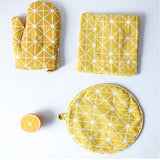 Zakka Geometric Insulated Oven Mitts - Colors