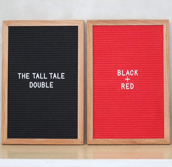 THE TALL TALE Double – Black + Red