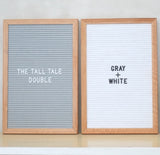THE TALL TALE Double – Gray + White