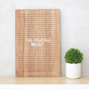 THE FOLKTALE – Walnut 12 x 18