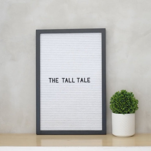THE TALL TALE – White on Black