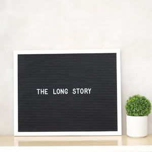 THE LONG STORY – Black on White