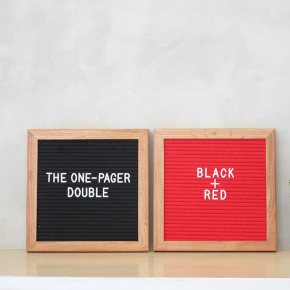 THE ONE-PAGER Double – Black + Red