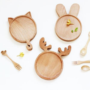 Cute Animal Wooden Plate