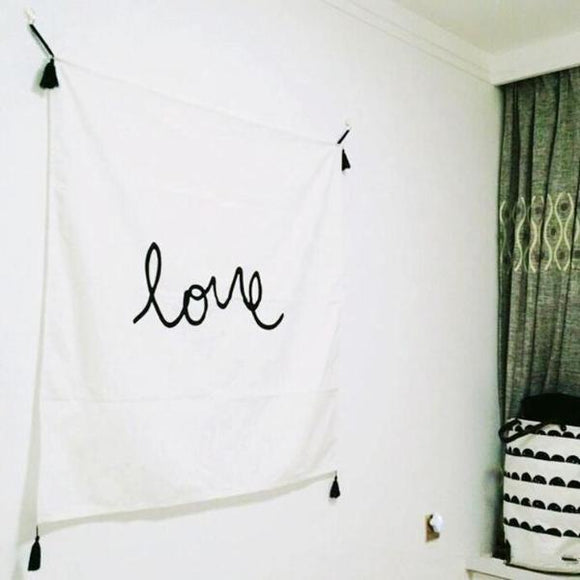 Simple Love Square Wall Banner