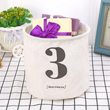 Numbers 123 Canvas Storage Bags