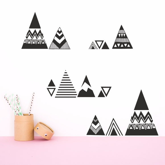Mountains Pattern Wall Stickers Vinyl Decal
