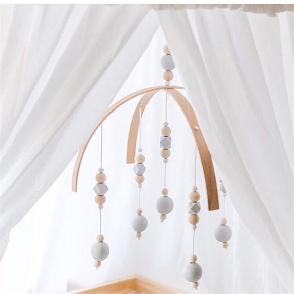 Wooden Beads Hanging Mobile