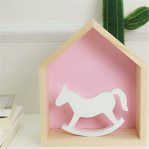 Small White Wooden Rocking Horse