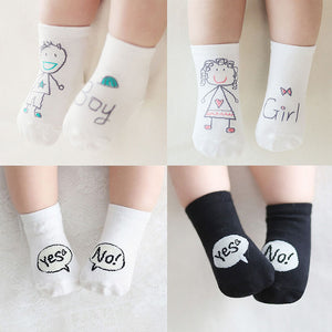 Cute Cartoon Non-Slip Cotton Socks