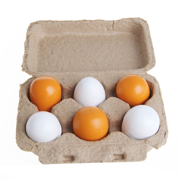 Wooden Egg & Carton Set Pretend Play Toy