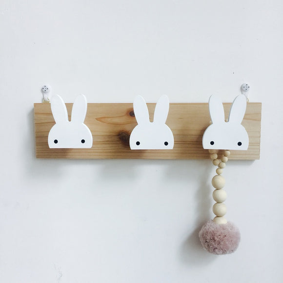 Cute Wooden Wall Hook Rail