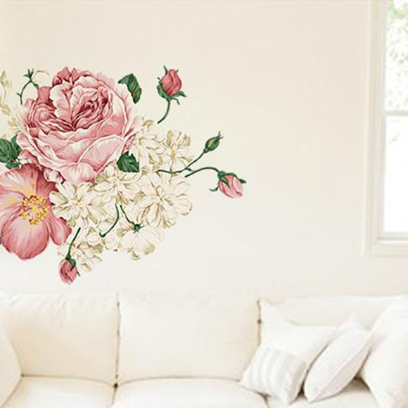 Peony Flowers Wall Sticker Vinyl Decal