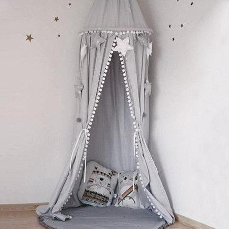 Pompom Cotton Dome Bed Canopy