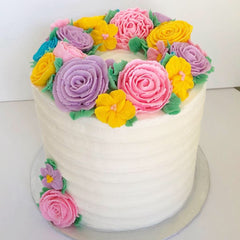 buttercream flower cake decorating class