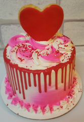 Valentines Day Themed Drip Cake