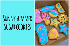 image of cookies to be decorated in the summer cookie decorating class