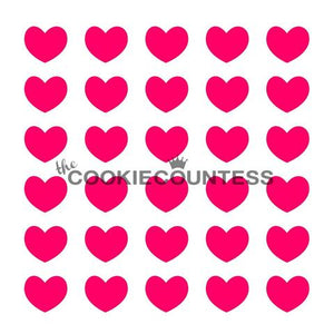 Puffy Hearts Cookie Countess Stencil