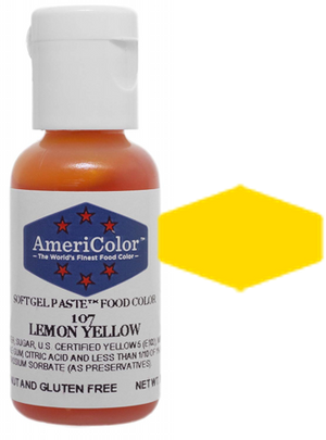 Americolor Soft Gel Paste Food Color - Lemon Yellow, .75oz