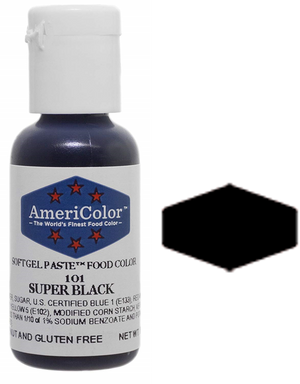Americolor Soft Gel Paste Food Color - Super Black, .75 oz