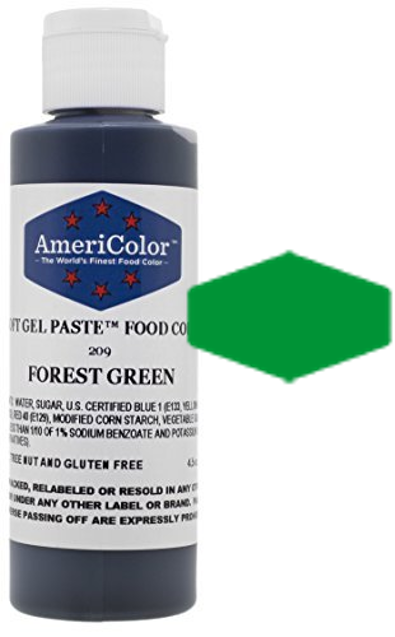 Americolor Soft Gel Paste Food Color - Forest Green - 4.5oz