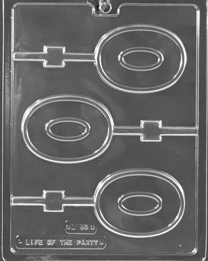 Number 0 Lollipop Chocolate Mold
