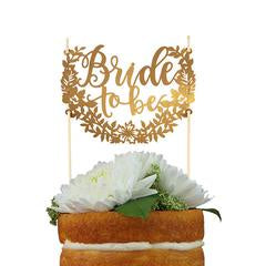 Bride TO Be Cake Topper - Gold