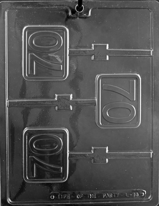 70th Anniversary/Birthday Lollipop Chocolate Mold