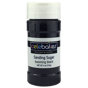 Celebakes Booming Black Sanding Sugar