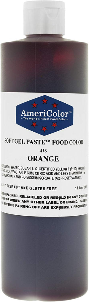 Americolor Soft Gel Paste Food Color - Orange - 13.5oz