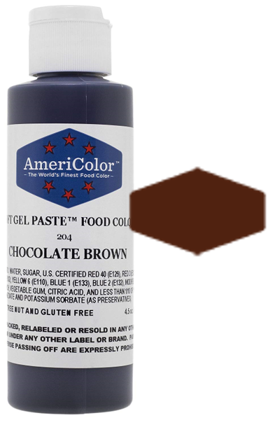 Americolor Soft Gel Paste Food Color - Chocolate Brown - 4.5oz