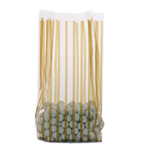 5x3x11.5 Bag - Vertical Gold Stripe - 10 Bags