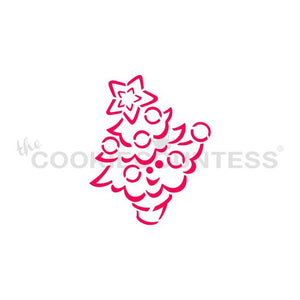 Drawn with Character Cute Christmas Tree - PYO Stencil