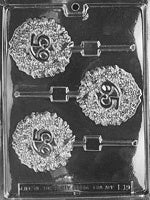 65th Anniversary/Birthday Lollipop Chocolate Mold