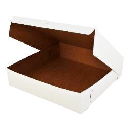 Pie Box - White - Flat - 12inch - 12x12
