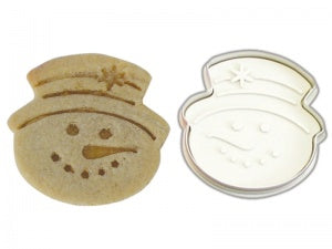 Large Snowman Cookie Cutter - Plunger