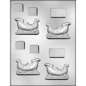 3D Sleigh Chocolate Mold