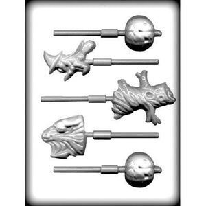 Assorted Halloween Characters Lollipop Candy Mold