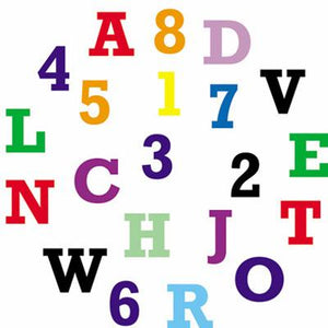 FMM Tappit Alphabet & Number Set (Upper Case)