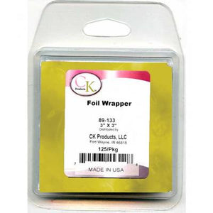 "Gold Foil Wrapper - 3""x3"" - 125/Package"