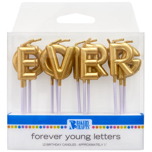 Gold Candles - Forever Young Letters